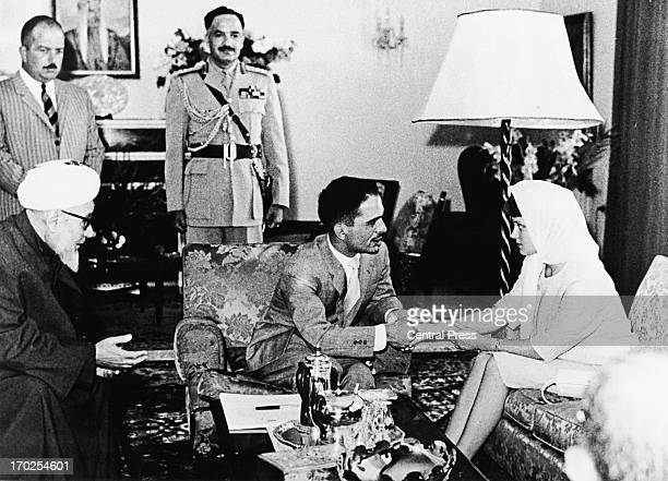 King Hussein of Jordan with his wife Princess Muna alHussein 26th May 1961
