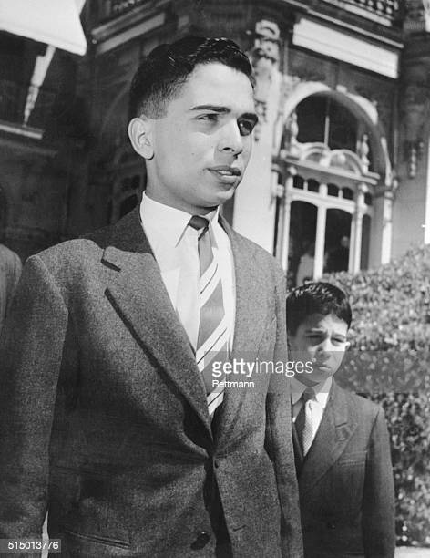King Hussein with his brother Crown Prince Mohamed and Prince Hassan 6, right.