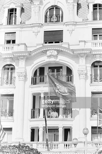 King Ibn Saud Of Saudi Arabia On A Trip In Nice En mars 1953 Abdelaziz ben Abderrahman ben Fayçal AL SAOUD appelé aussi Ibn SAOUD ou Ibn SEOUD...