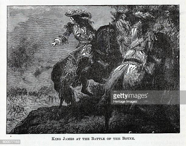 King James at the Battle of the Boyne 1882 Private Collection Artist Anonymous