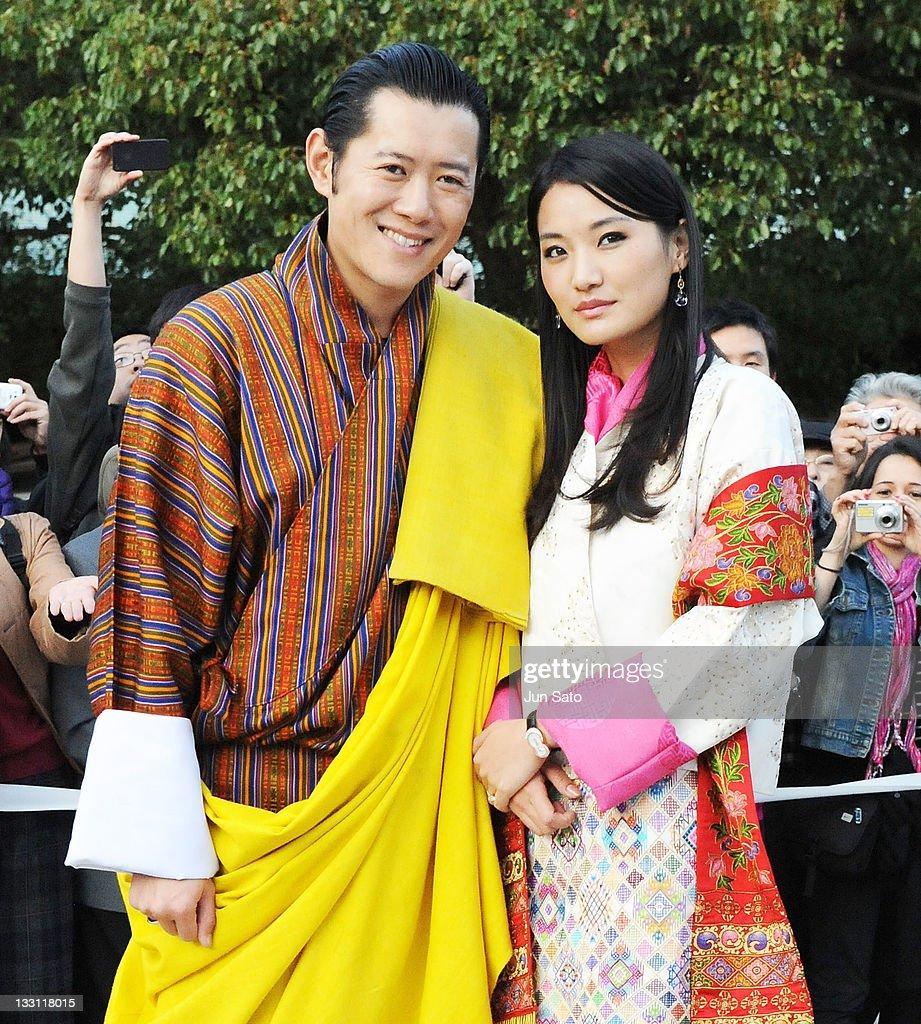 King And Queen Of Bhutan Visit Japan : ニュース写真