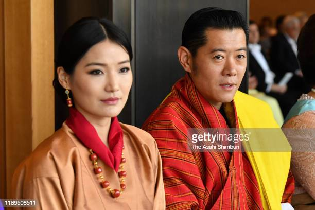 King Jigme Khesar Namgyel Wangchuck of Bhutan and Queen Jetsun Pema of Bhutan attends the enthronement ceremony of Japanese Emperor Naruhito...