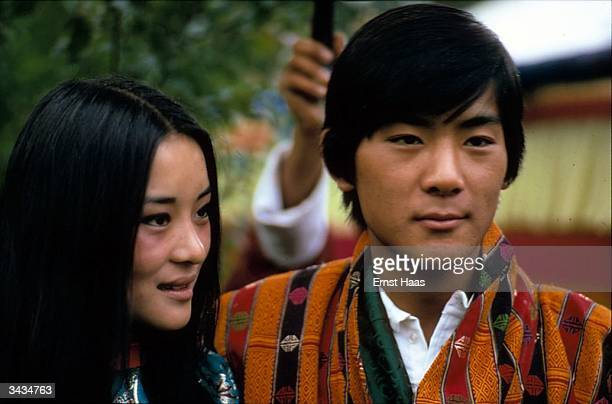 King Jigme Singye Wangchuk of Bhutan with his sister Palden Thondup Namgyal the Chogyal of Sikkim Himalayan pilgrimage book