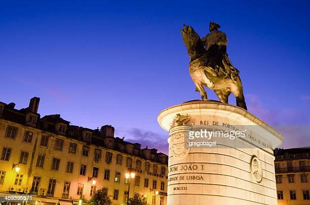 キングジョン i 像でフィゲイラスクエアをリスボン,ポルトガル - フォゲイラ広場 ストックフォトと画像
