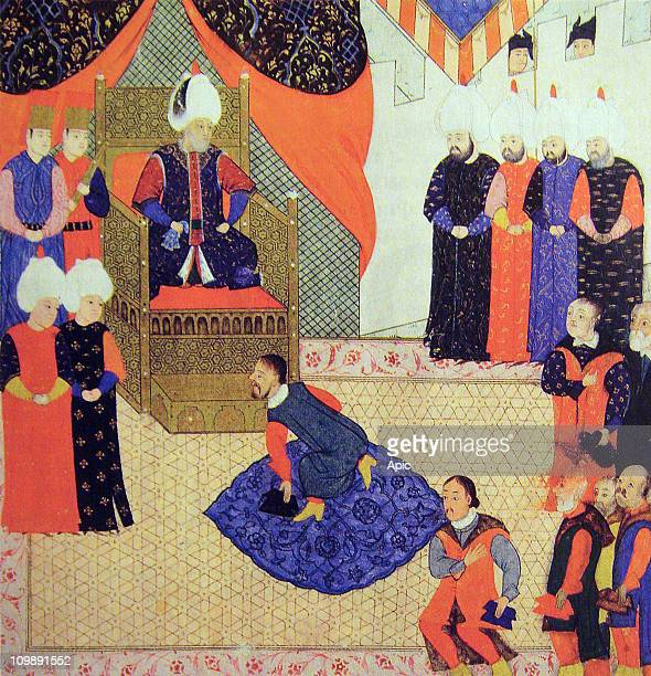 King John II Sigismund Zapolya of Hungary and ottoman sultan Suleiman the Magnificent in 1556 Suleiman ask John II Sigismund Zapolya to get back on...