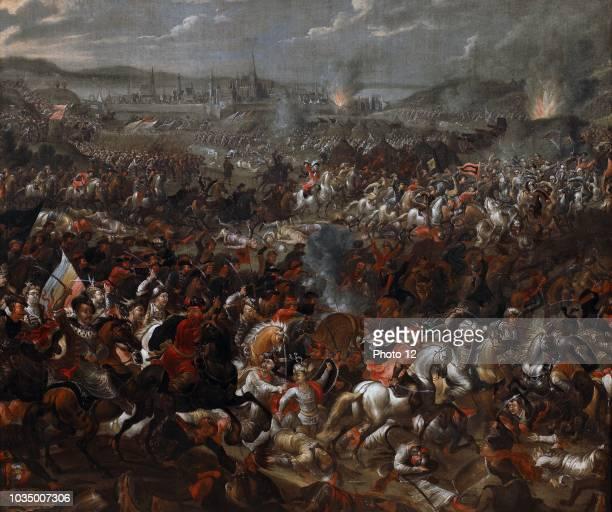 King John III Sobieski blessing Polish attack on Turks in Battle of Vienna 1683 Painted by Juliusz Kossak John III Sobieski from 1674 until his death...