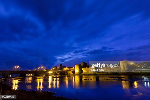 CONTENT] King John's Castle at night on the majestic river Shannon Limerick Ireland