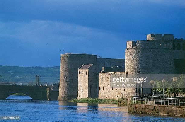 King John's Castle on the River Shannon on King's Island Limerick County Limerick Ireland