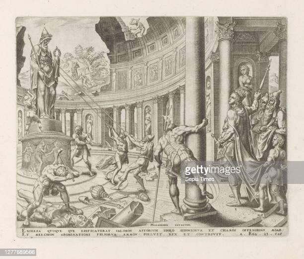 King Josia destroyed the temples of Astarte, Kemos and Milkom History of King Josia Thesaurus sacrarum historiaru [m] veteris testame [n] ti, elega...