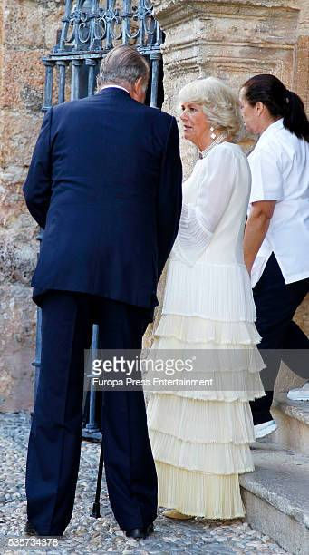 King Juan Carlos and Camilla Duchess of Cornwall attend the wedding of Lady Charlotte and Alejandro Santo Domingo's wedding on May 28 2016 in Granada...