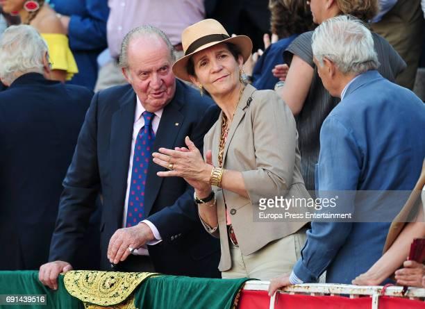 King Juan Carlos and Princess Elena attend San Isidro Fair at Las Ventas Bullring at Las Ventas Bullring on June 1 2017 in Madrid Spain