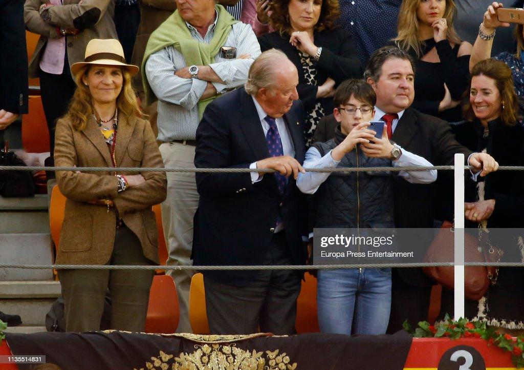 ESP: King Juan Carlos And Princess Elena of Spain Attend Bullfight