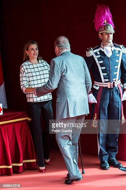 King Juan Carlos and Queen Letizia of Spain attend the Red Cross Fundraising day event on October 8 2014 in Madrid Spain