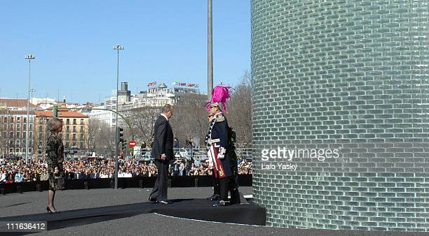 TRH King Juan Carlos and Queen Sofia during Spanish Royals Preside Over the Unveiling of Monument in Memory of the Victims of March 11 2004 Terrorist...