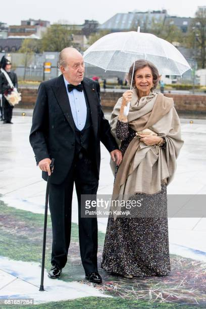 King Juan Carlos and Queen Sofia of Spain arrive at the Opera House on the ocassion of the celebration of King Harald and Queen Sonja of Norway 80th...