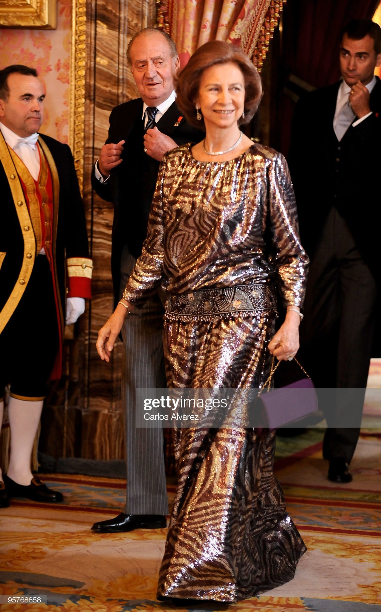 Spanish Royals Host Ambassadors Reception in Madrid : News Photo