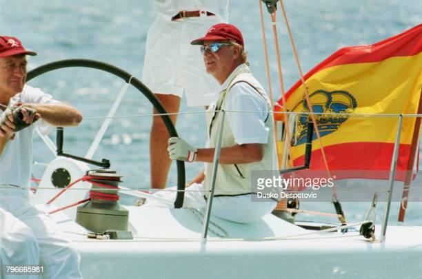King Juan Carlos at the 'Copa del Rey' regatta