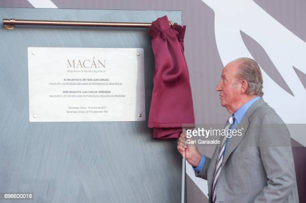 King Juan Carlos attend Macan Winery inauguration on June 16 2017 in Alava Spain