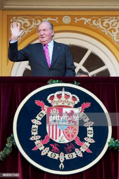 King Juan Carlos attends La Beneficiencia Bullfight at Las Ventas Bullring on June 6 2018 in Madrid Spain