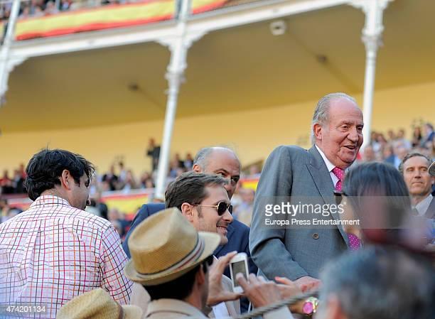 King Juan Carlos attends Press Association Bullfighting during San Isidro Fair at Las Ventas Bullring on May 20 2015 in Madrid Spain