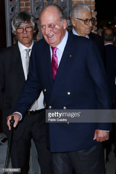 King Juan Carlos attends 'San Isidro 2018' Bullfights Fair Presentation at Las Ventas Bullring on March 22 2019 in Madrid Spain