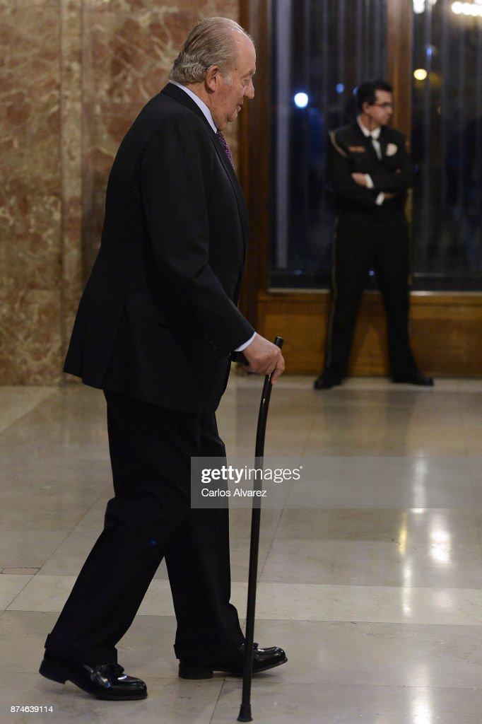 King Juan Carlos attends the FONDENA Award 2017 at the CESIC on November 15, 2017 in Madrid, Spain.