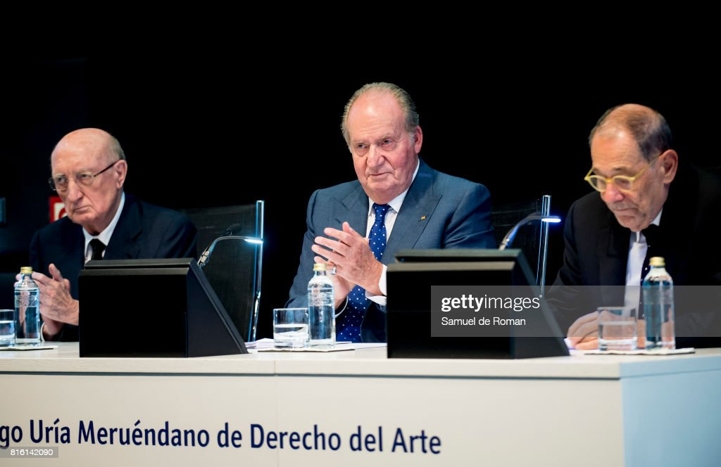 King Juan Carlos attends the Rodrigo Uria Meruedano Tribute on July 17, 2017 in Madrid, Spain.