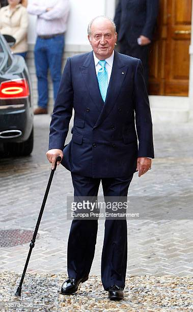 King Juan Carlos attends the wedding of Lady Charlotte and Alejandro Santo Domingo's wedding on May 28 2016 in Granada Spain