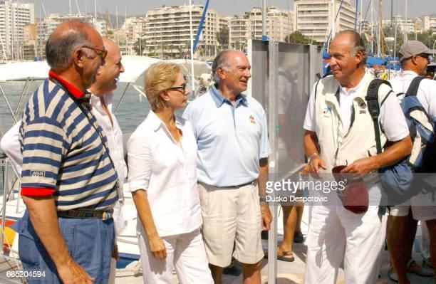 King Juan Carlos Carolina Herrera and her husband Reinaldo Herrera at the 21st Copa del Rey regatta