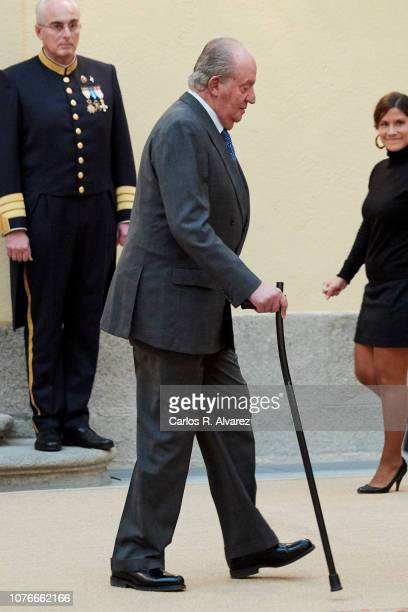 King Juan Carlos hosts an audience to the Advisory Council of the General Courts for the commemoration of the 40th anniversary of Spanish...