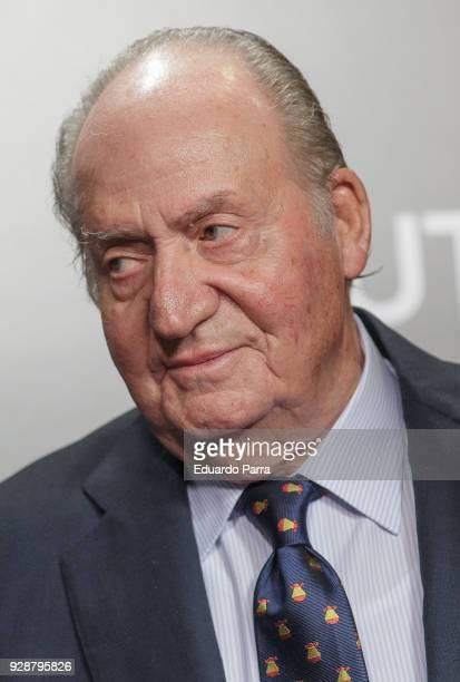 King Juan Carlos I of Spain attends the 'San Isidro 2018' Bullfights Fair presentation at Las Ventas bullring on March 7 2018 in Madrid Spain at Las...