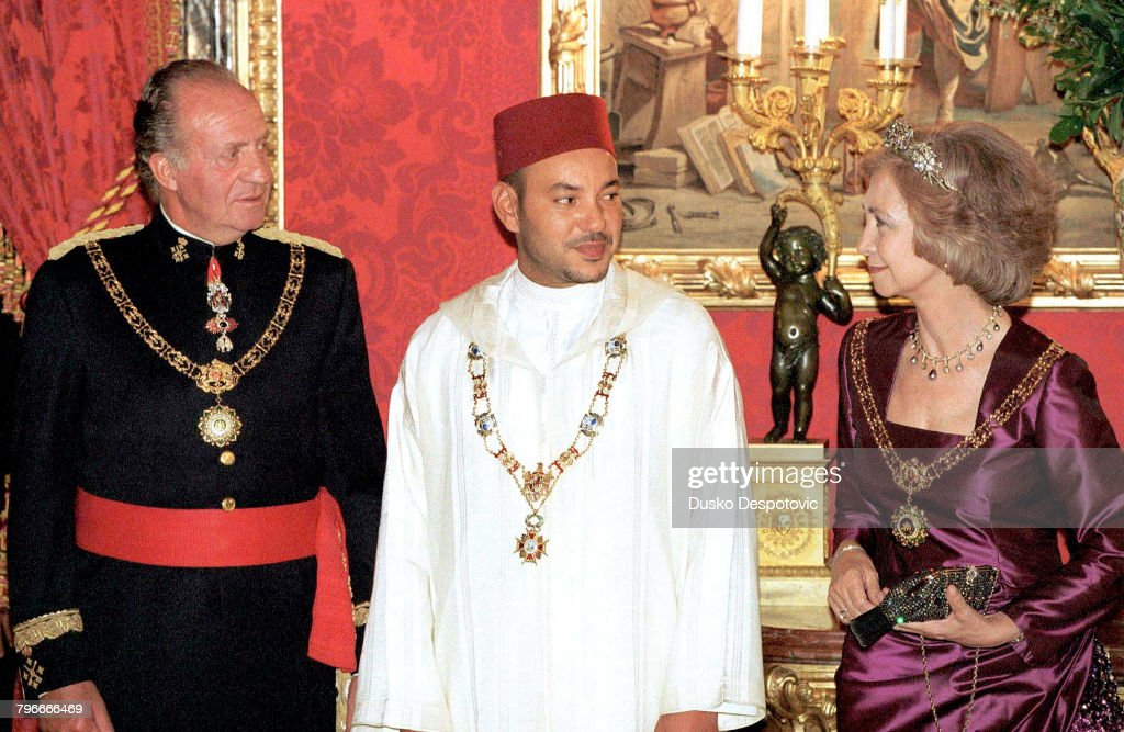 MOHAMMED VI OF MOROCCO IN MADRID: GALA RECEPTION : News Photo