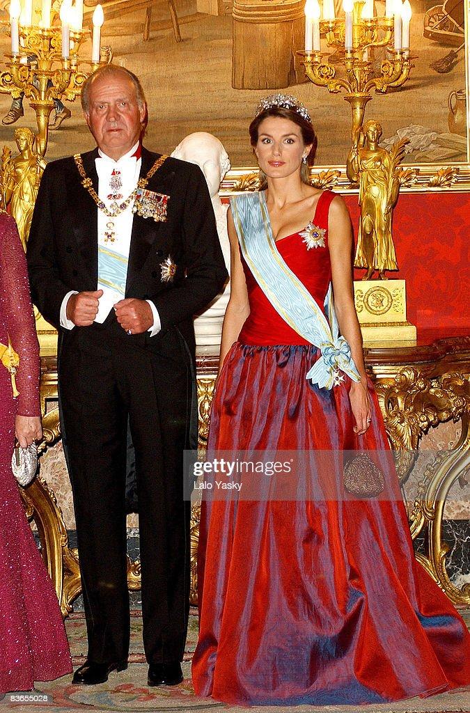 HM King Juan Carlos of Spain and daughter-in-law HRH Princess Letizia of Spain