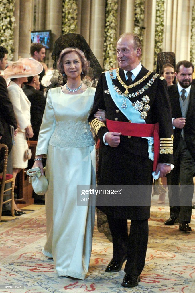 King Juan Carlos of Spain and his wife Queen Sofia leave Madrid\'s ...