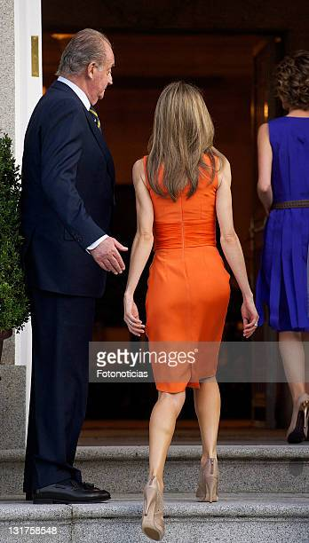 King Juan Carlos of Spain and princess Letizia of Spain receive Syrian Arab Republic President Bashar alAssad and his wife Asma alAssad at Zarzuela...