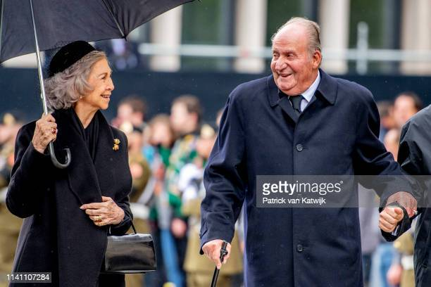 King Juan Carlos of Spain and Queen Sofia of Spain attend the funeral of Grand Duke Jean of Luxembourg on May 04, 2019 in Luxembourg, Luxembourg.