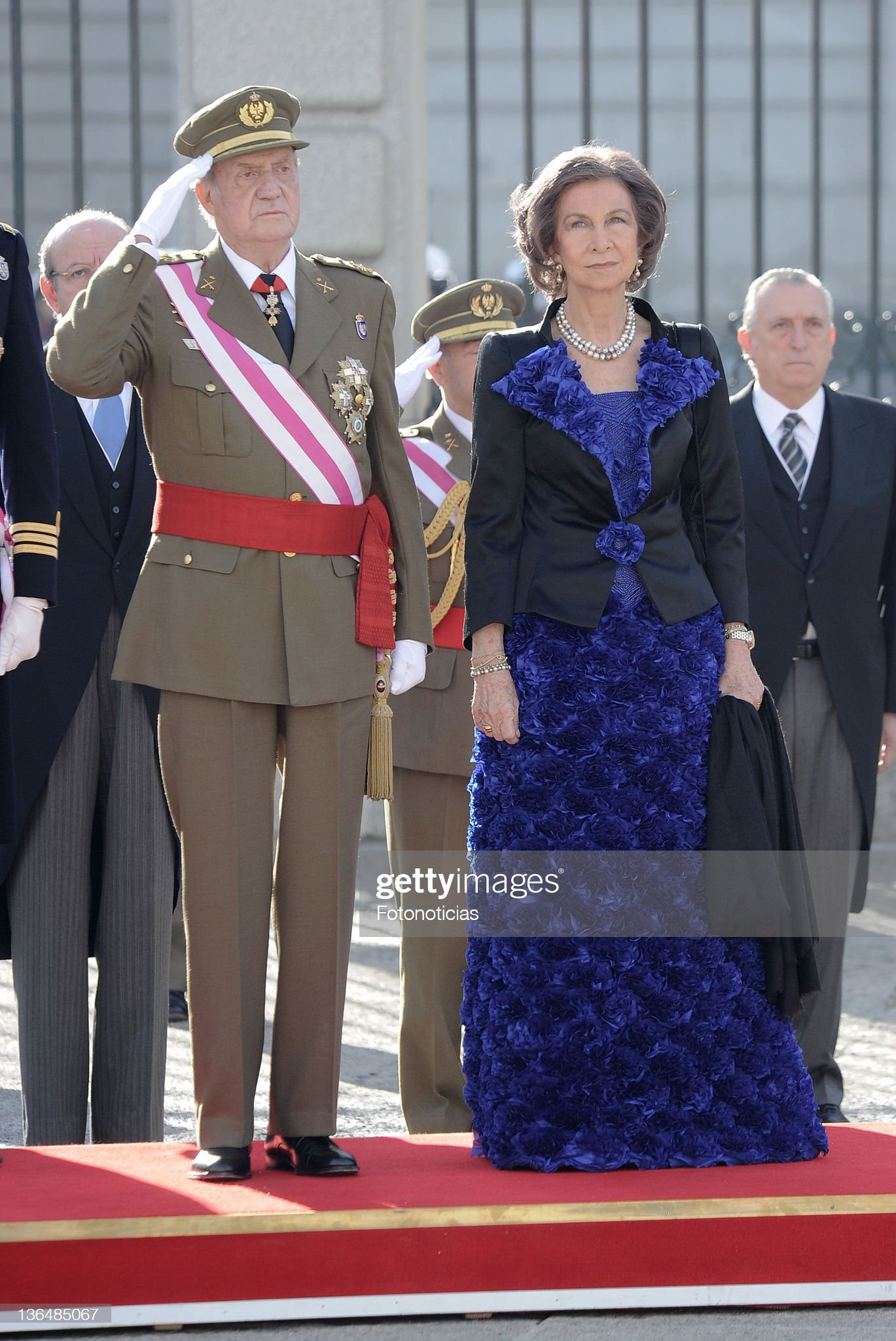 Spanish Royals Celebrate New Year's Military Parade 2012 : News Photo