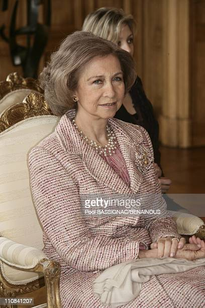 King Juan Carlos Of Spain And Wife Sofia Attend Reception At Paris City Hall In Paris France On March 28 2006 Queen Sofia