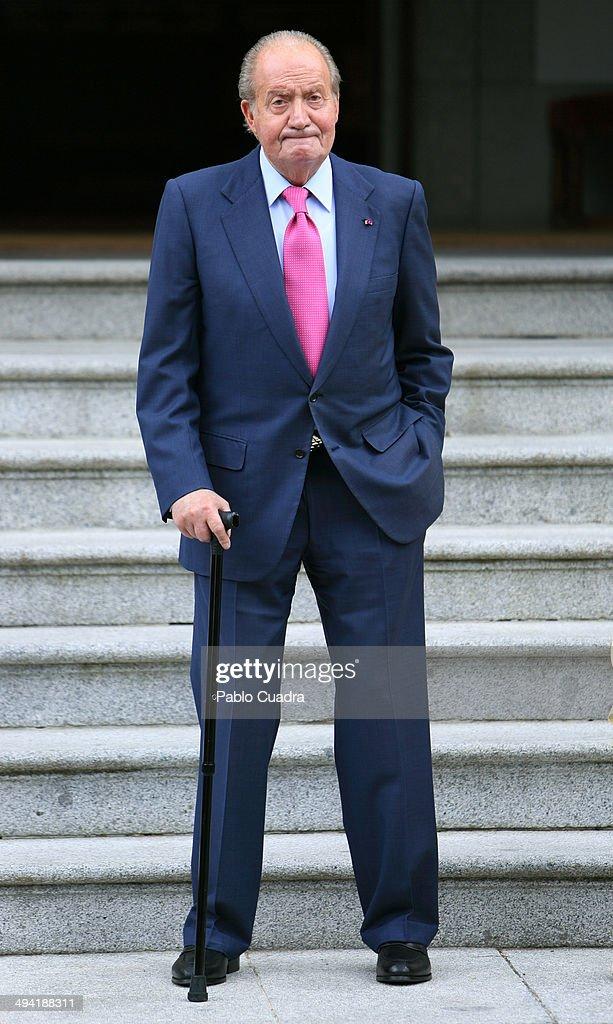 Spanish Royals Meet President of Panama at Zarzuela Palace