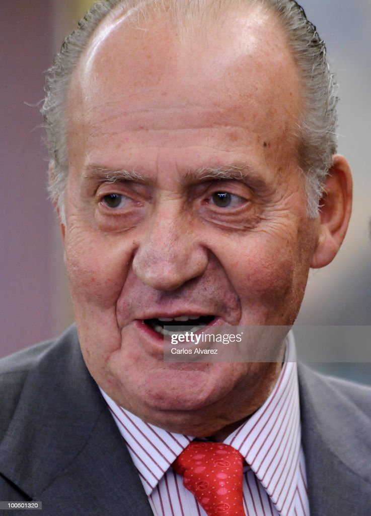 King Juan Carlos of Spain attends an audience with COTEC Foundation at the Zarzuela Palace on May 25, 2010 in Madrid, Spain.