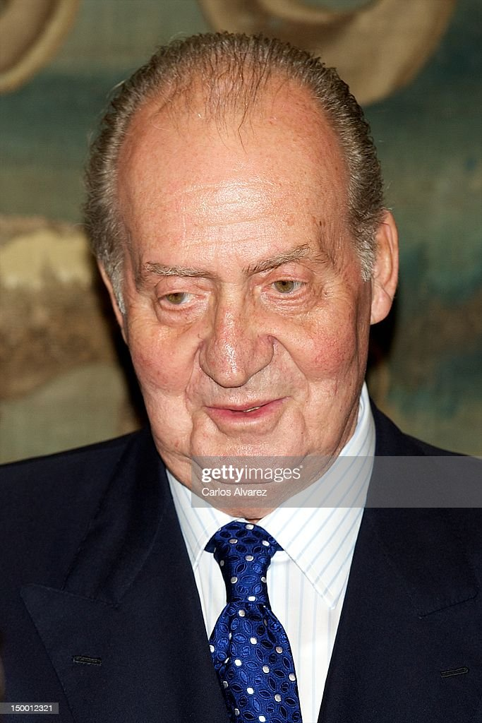 King Juan Carlos of Spain attends an official dinner at Almudaina Palace on August 8, 2012 in Palma de Mallorca, Spain.