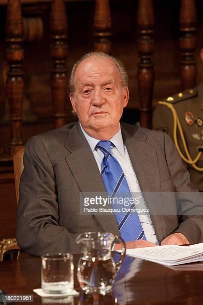 King Juan Carlos of Spain attends 'Rey De Espana Human Rights Awards' at Alcala University on September 10, 2013 in Alcala de Henares, Spain.