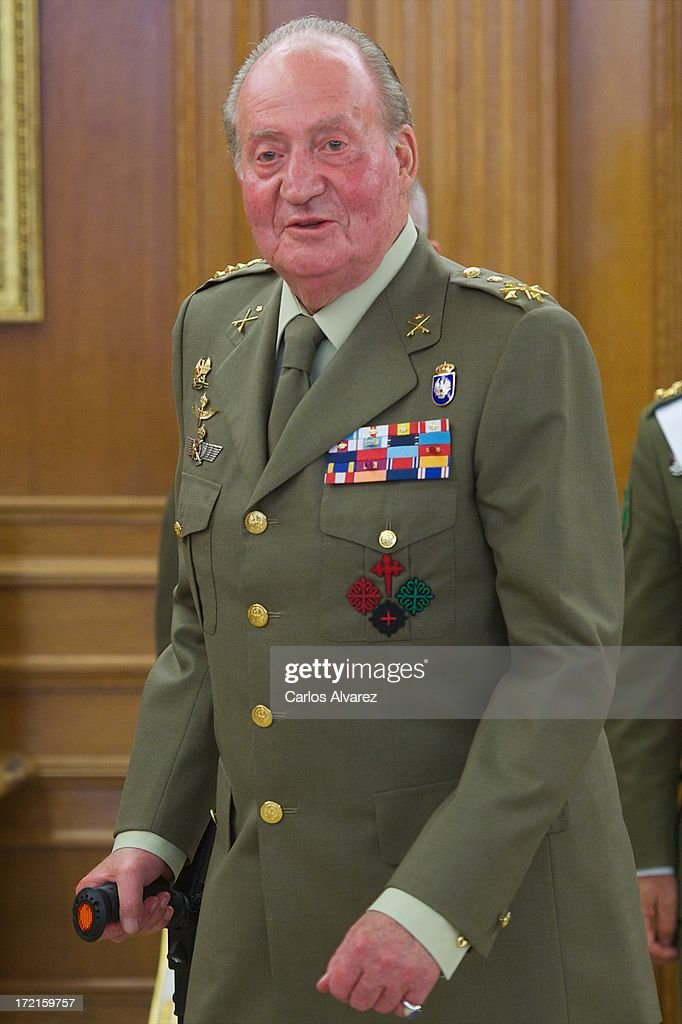 King Juan Carlos of Spain attends several audiences at Zarzuela Palace on July 2, 2013 in Madrid, Spain.