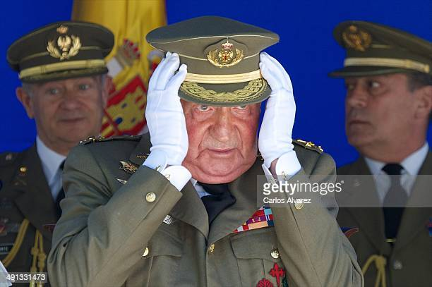 King Juan Carlos of Spain attends the 250 memorial anniversary of the opening of The Royal College of Artillery at the Alcazar de Segovia on May 16,...