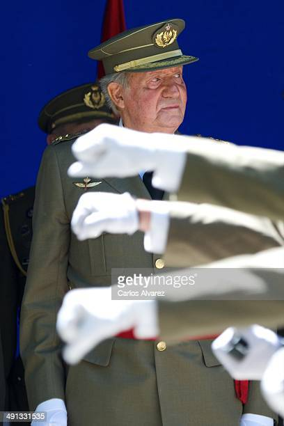 King Juan Carlos of Spain attends the 250 memorial anniversary of the opening of The Royal College of Artillery at the Alcazar de Segovia on May 16...