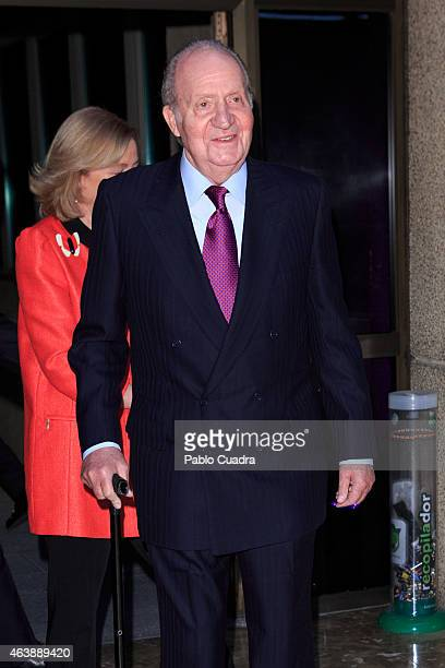 King Juan Carlos of Spain attends the ABC Bullfight Awards ceremony at ABC building on February 19 2015 in Madrid Spain