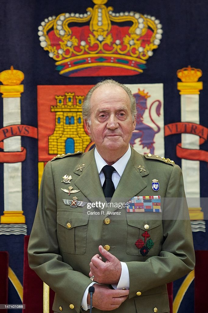 King Juan Carlos of Spain attends the closure of 'The General Staff of the Spanish Army' Academic Year on June 29, 2012 in Madrid, Spain.
