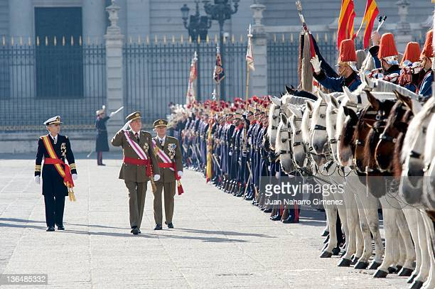 King Juan Carlos of Spain attends the Pascua Militar Ceremony at Royal Palace on January 6 2012 in Madrid Spain