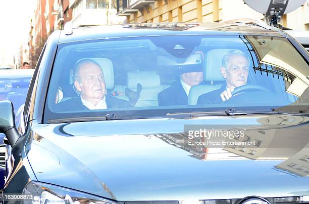 King Juan Carlos of Spain goes under surgery for a lower back disc hernia at La Milagrosa Hospital on March 3 2013 in Madrid Spain He had hip surgery...