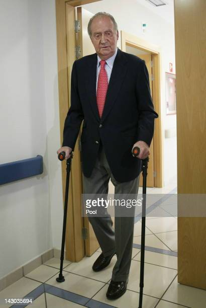King Juan Carlos of Spain is discharged from hospital after undergoing hip replacement surgery, after fracturing his hip on a recent trip to...